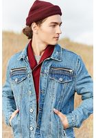 Zippered Denim Jacket