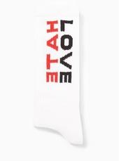'love Hate' Slogan Tube Socks