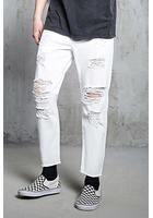 Distressed Clean Wash Jeans