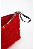 Lattice Knit Clutch Bag