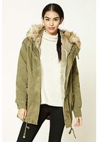 Longline Faux Fur-lined Parka