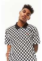 Checkered Print Polo Shirt