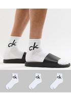 Pack De 3 Calcetines Tres Cuartos Blancos De Calvin Klein