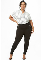 Plus Size Pintucked Leggings