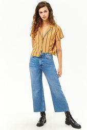 Wide-leg Capri Jeans
