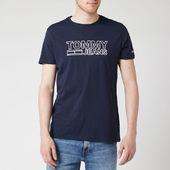 Tommy Jeans Men's Contoured Corporate Logo T-shirt - Black Iris - S - Blue