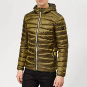 Superdry Men's Clarendon Down Hooded Jacket - Bright Khaki - S - Green