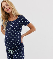 Pijama Premamá De Lactancia Con Estampado De Lunares De Mamalicious