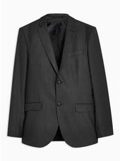 Black Pinstripe Skinny Blazer