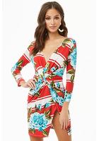 Twist-front Tulip Mini Dress