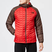 The North Face Men's Thermoball Sport Hooded Jacket - Rage Red/bittersweet Brown - S - Red
