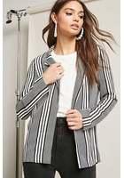 Stripe Open-front Blazer
