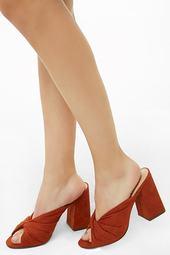 Twisted Open-toe Heels