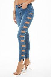 Caged Super Skinny Jeans