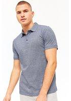 Marled Knit Polo Shirt