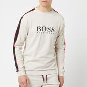 Boss Hugo Boss Men's Chest Logo Sleeve Stripe Sweatshirt - Grey - S - Grey