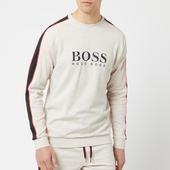 Boss Hugo Boss Men's Chest Logo Sleeve Stripe Sweatshirt - Grey - S - Grey