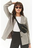 Plaid Patch Pocket Blazer