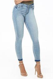 Released-hem Super Skinny Jeans