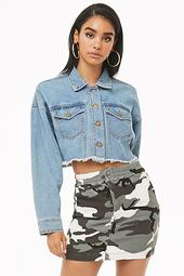 Denim Camo Mini Skirt