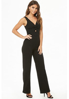 Twist-front Cutout Sleeveless Jumpsuit