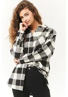 Buffalo Plaid Longline Flannel Shirt