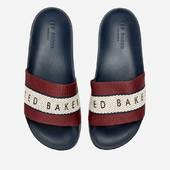 Ted Baker Men's Rastar Slide Sandals - Dark Red/dark Blue - Uk 7 - Red/blue