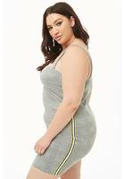 Plus Size Striped-panel Glen Plaid Mini Dress