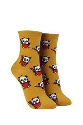 Panda Print Crew Socks