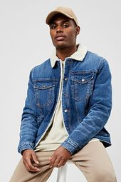 Faux Sherpa Denim Jacket