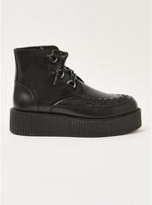 Black Wedge Platform Boots