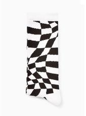 Monochrome Check Tube Socks