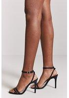 Faux Leather Stiletto Heels