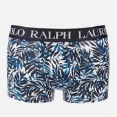 Polo Ralph Lauren Men's Classic Trunk Boxer - Cruise Navy Palm Print - S - Blue