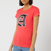 Armani Exchange Women's Square Logo T-shirt - Pink - Xs - Pink