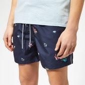 Ted Baker Men's Kelpe Diver Print Swim Shorts - Navy - 3/m - Blue