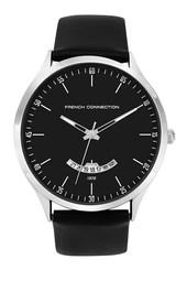 Black Leather Matte Face Watch - Black