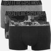 Diesel Men's Damien Three Pack Boxer Shorts - Black - M - Black