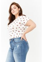 Plus Size Floral Bodysuit