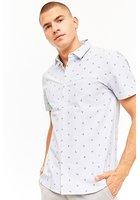 Striped Anchor Print Shirt