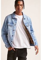 Leopard-lined Denim Jacket