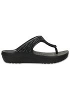 Crocs Flip Women Black / Black Crocs Sloane Embellished