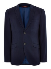Navy Super Skinny Fit Single Breasted Blazer With Peak Lapels
