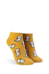 Kitten Graphic Ankle Socks
