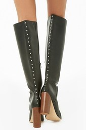 Studded Faux Leather Boots