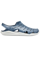 Crocs Sandal Men Navy / White Swiftwater Wave Graphic