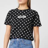 Superdry Women's Studio 395 Polka Dot Aop Portland T-shirt - Black - Uk 8 - Black