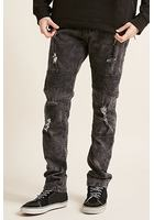 Cain & Abel Distressed Moto Jeans