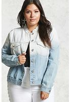 Plus Size Ombre Denim Jacket