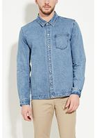 Snap-buttoned Denim Jacket